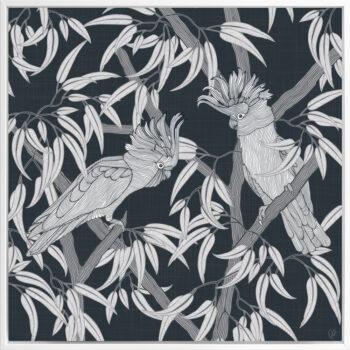 In the Trees - Dusky - Framed Canvas White Frame
