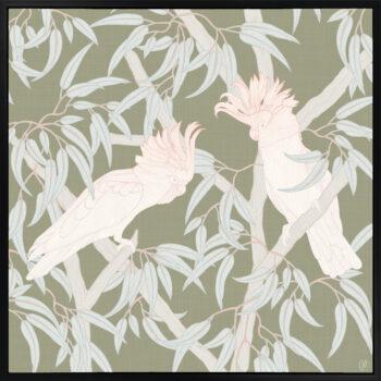 In the Trees - Flourish - Framed Canvas Black Frame