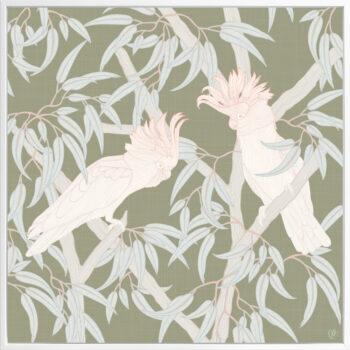 In the Trees - Flourish - Framed Canvas White Frame