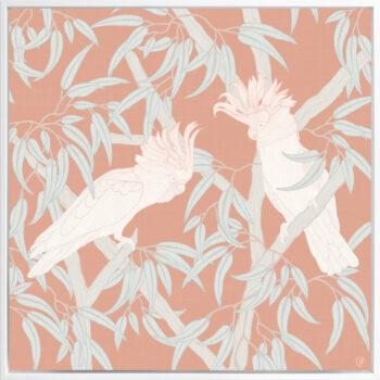 In the Trees - Radiant - Framed Canvas White Frame