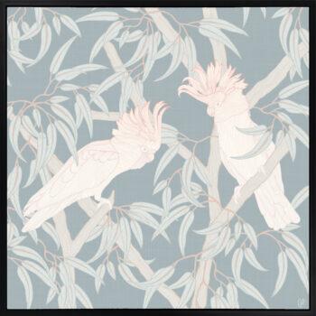 In the Trees - Sparkling - Framed Canvas Black Frame
