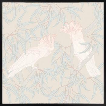 In the Trees - Sunlit - Framed Canvas Black Frame