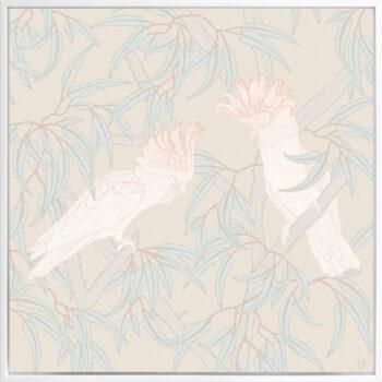In the Trees - Sunlit - Framed Canvas White Frame