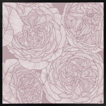 Rose Will - Dusk - Framed Canvas Black Frame