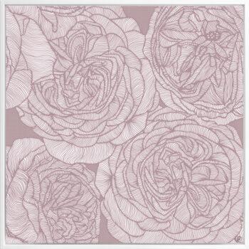Rose Will - Dusk - Framed Canvas White Frame