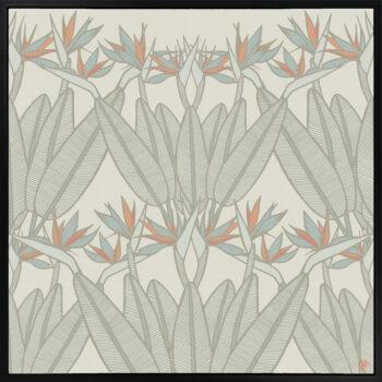 Strelitzia - Spring - Framed Canvas Black Frame