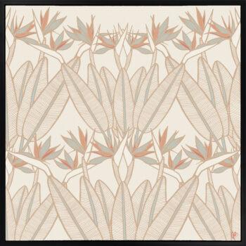 Strelitzia - Summer - Framed Canvas Black Frame