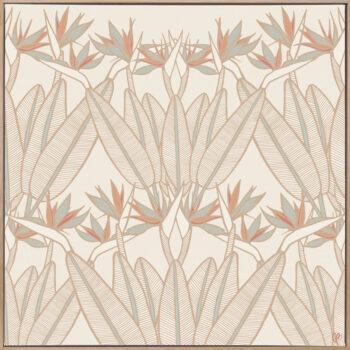 Strelitzia - Summer - Framed Canvas Warm Timber Frame