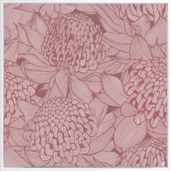 Telopea Bloom - Dusk - Framed Canvas White Frame